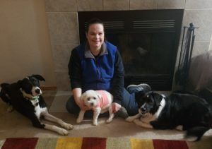 nola with her dogs